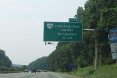 3/4 mile ahead of VA 236
