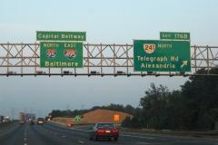 I-95/495 north at VA 241