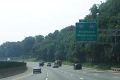 Turning toward I-95/395