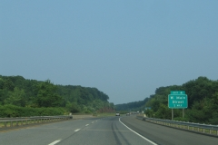 One mile ahead of Exit 4 on I-691 east