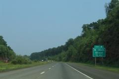 Nearing W Main Street on I-691 east
