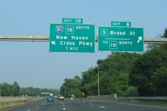 Exit 8 from I-691 east for U.S. 5