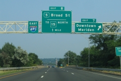 Interstate 691 east at Exit 7