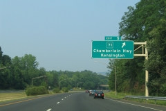 Eastbound at Exit 5 / CT 71