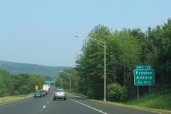 1/2 mile ahead of Preston Av