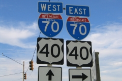 US 183 north at I-70 - Hays