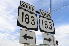 US 183 south at I-70 - Hays