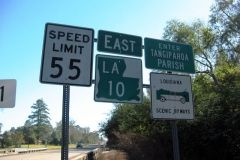 LA 10 east at Tangipahoa Par