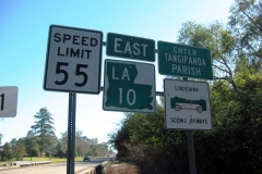LA 10 east at Tangipahoa Par