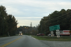 US 17 north at former SC 170 Alt