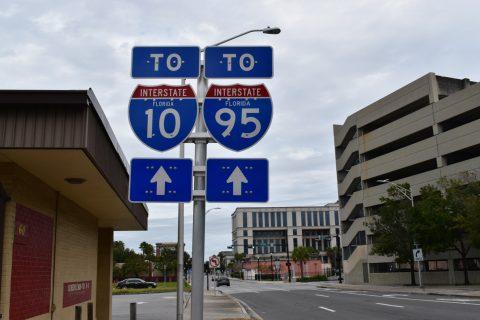 Broad St north at Bay St - Jacksonville, FL
