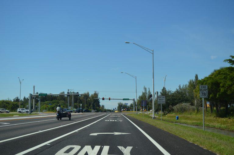 SR 78 west at CR 765/884 - Cape Coral, FL