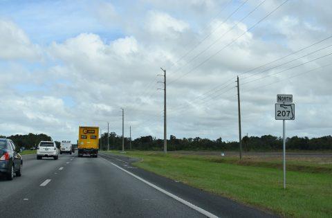 SR 207 north at Orange Mills, FL