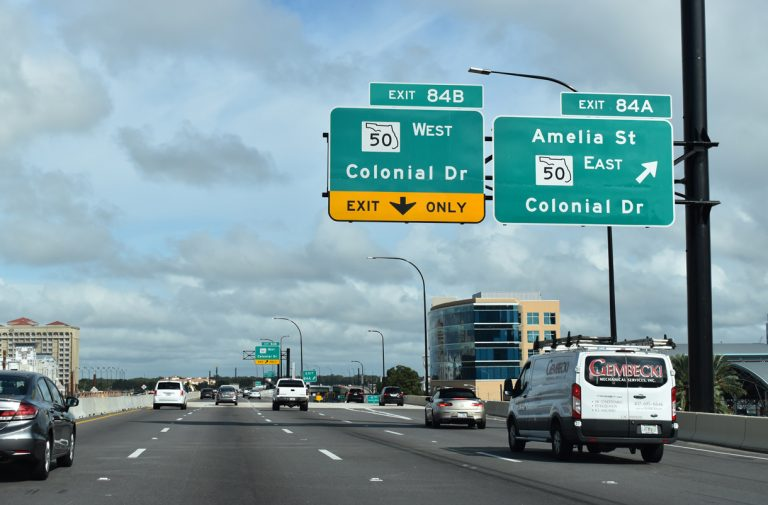 I-4 east at Colonial Dr - Orlando, FL