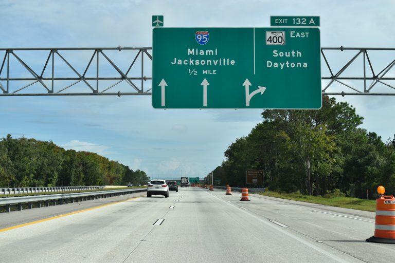 I-4 east at I-95 - Daytona Beach, FL