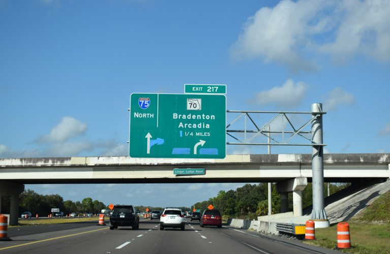 I-75 north at SR 70 - Manatee County, FL