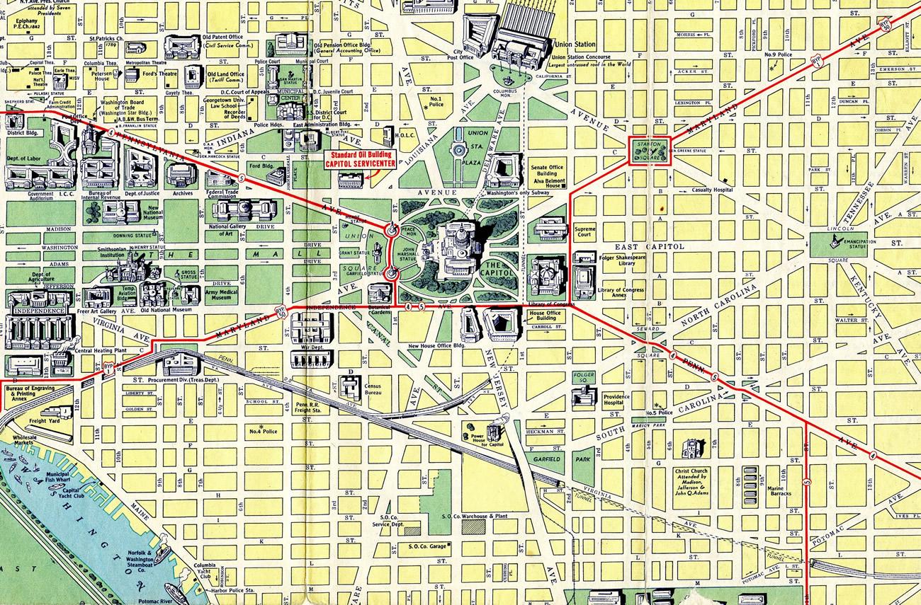 Washington, D.C. 1942 Map - AARoads