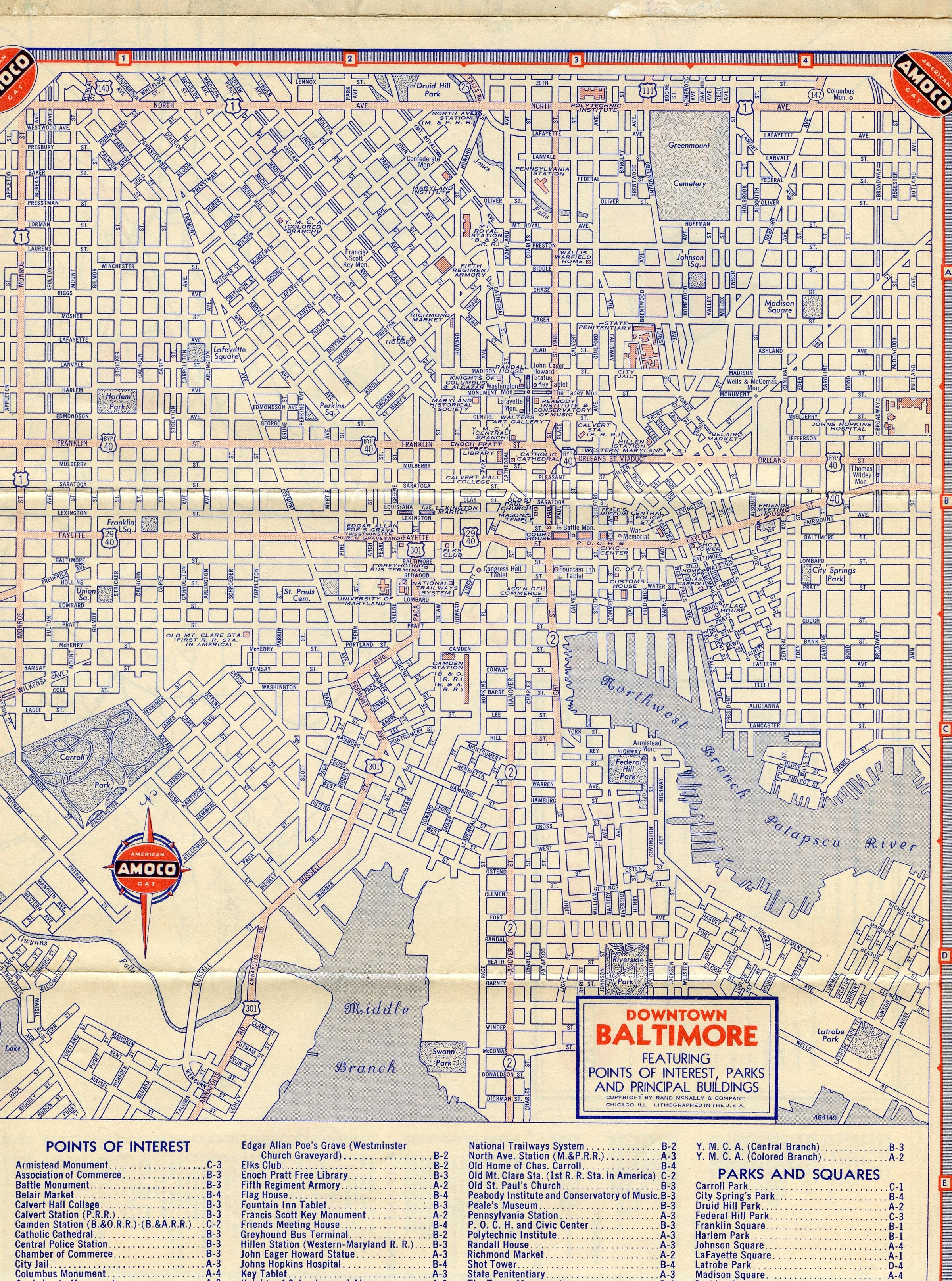 1946 Baltimore and 1956 Hawaii Maps AARoads
