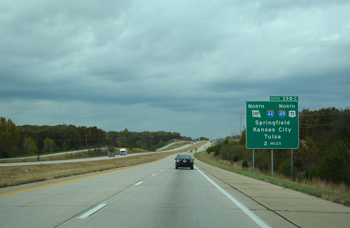 I-49/US 71 north at I-44/Route 249 - Joplin, MO