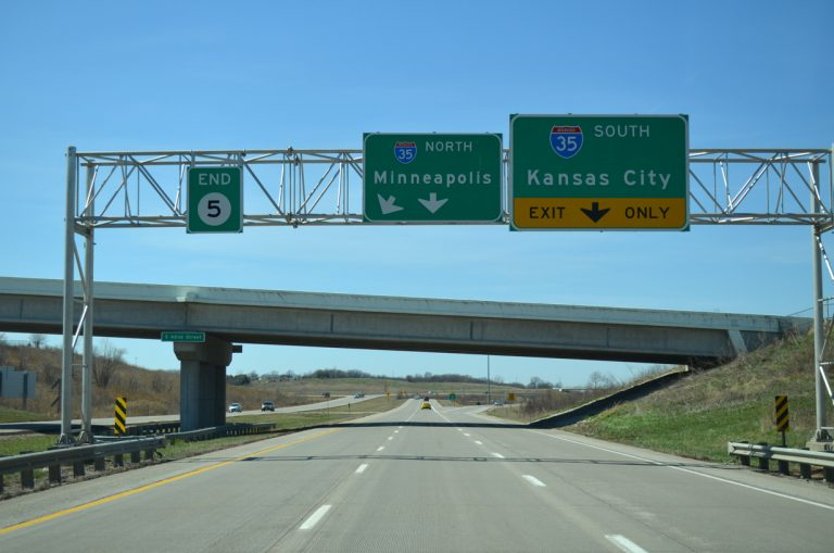 Iowa 5 north at I-35 - West Des Moines, IA