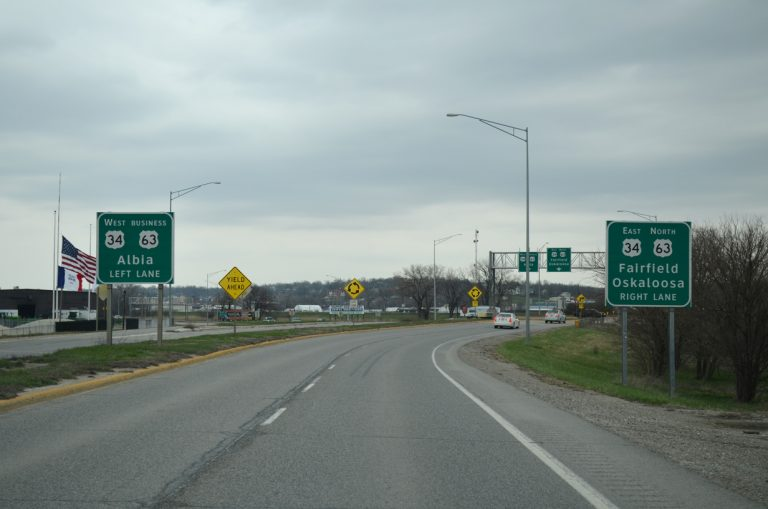 US 63 north at US 34/63 Business - Ottumwa, IA