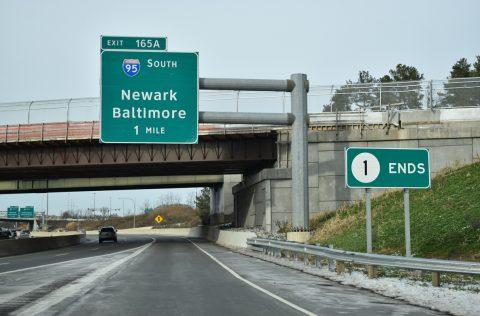 SR 1/7 north at I-95 - Churchmans Crossing, DE