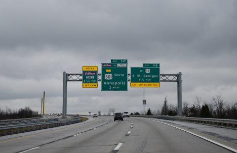 SR 1 south at US 301 - St. Georges, DE