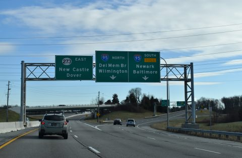 SR 273 east at I-95 near Christiana, DE