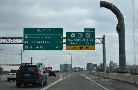 I-95 north at SR 4 - Wilmington, DE
