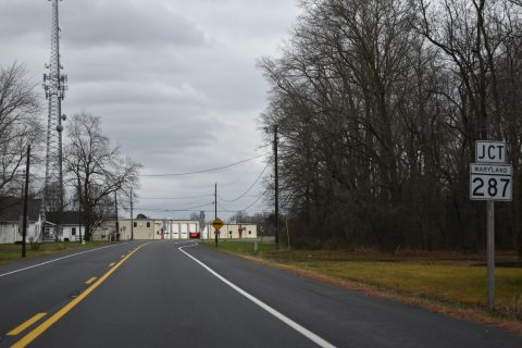 MD 313 south at MD 287 - Goldsboro
