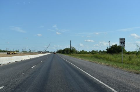 IH 69E construction along US 77 at the Willacy County, TX line
