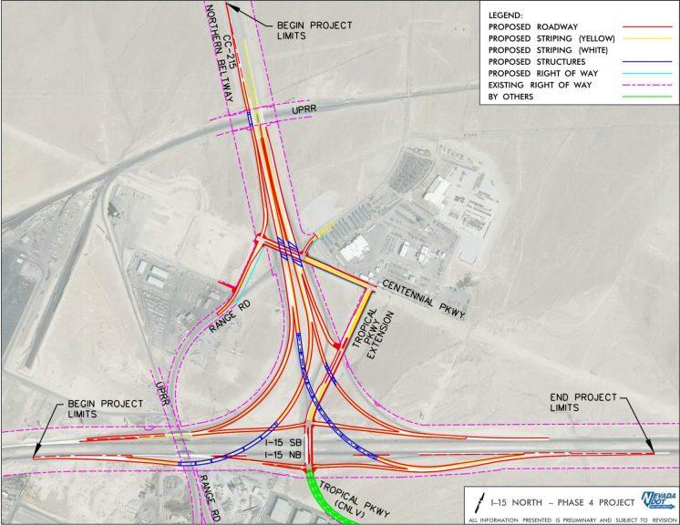 I-15/CC-215 Interchange Layout