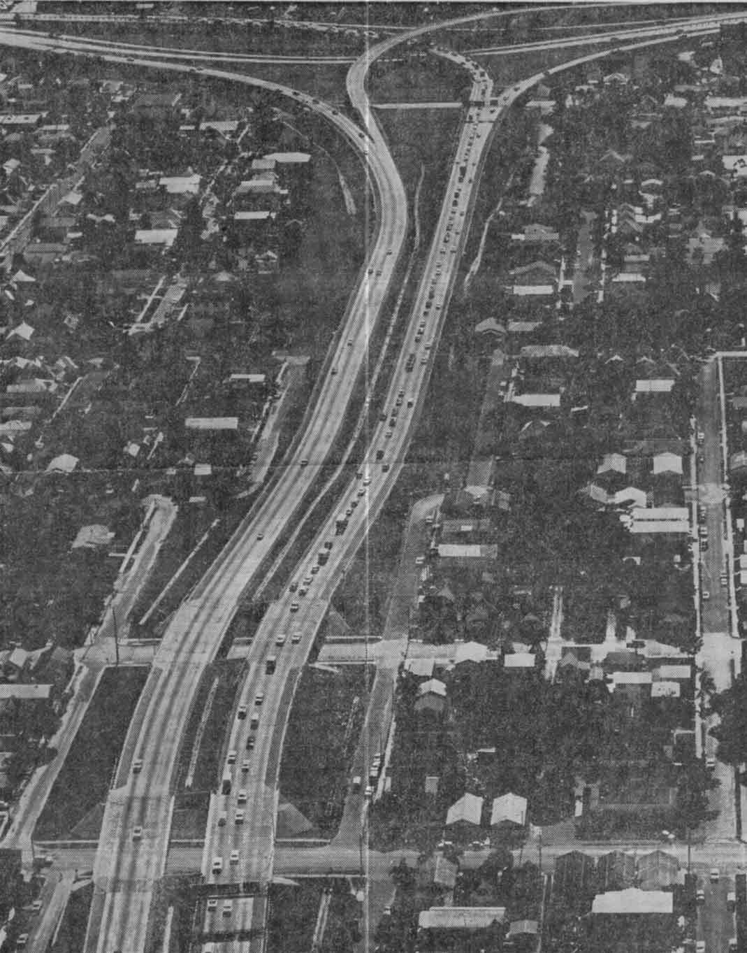 Downtown Interchange (I-4 at I-275) in 1970