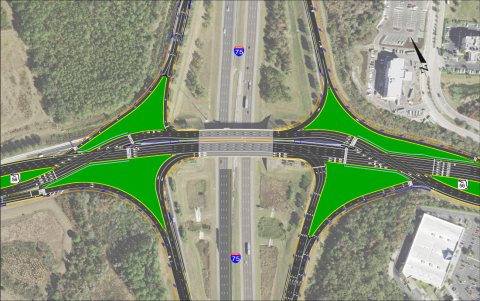 Proposed DDI for I-75 and SR 56