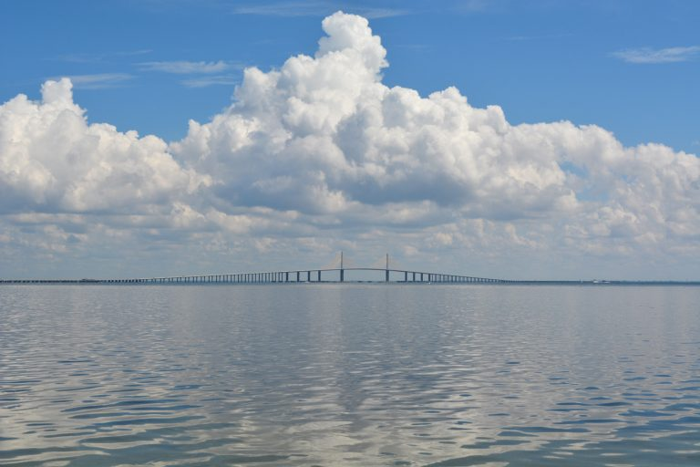 Sunshine Skyway from Fort Desoto Park