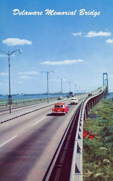 1963 Delaware Memorial Bridge Postcard