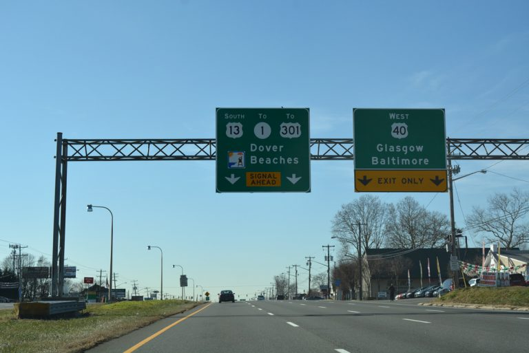 US 13/40 south split - State Road, Delaware