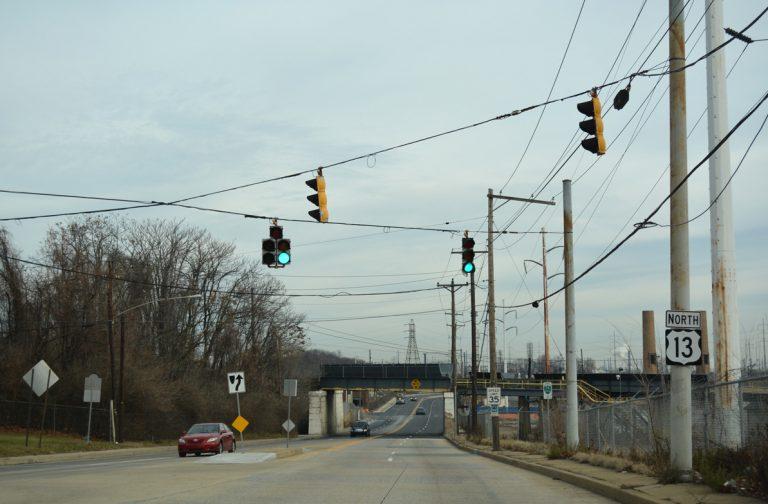 US 13 north at Claymont, DE