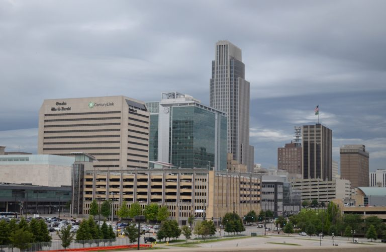 Downtown Omaha from I-480