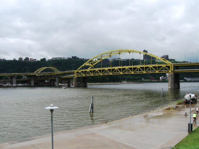 Fort Duquesne Bridge from Mazeroski Way - Pittsburgh, PA
