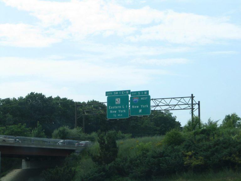 Sagtikos Parkway north at I-495 - Long Island, NY