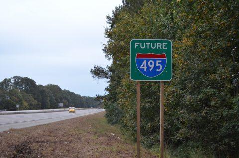 US 64 / Future I-495 east at I-95 - Rocky Mount, NC