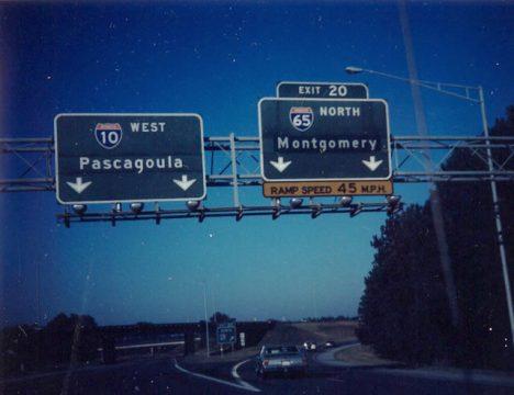 I-10 west at I-65 - 1989