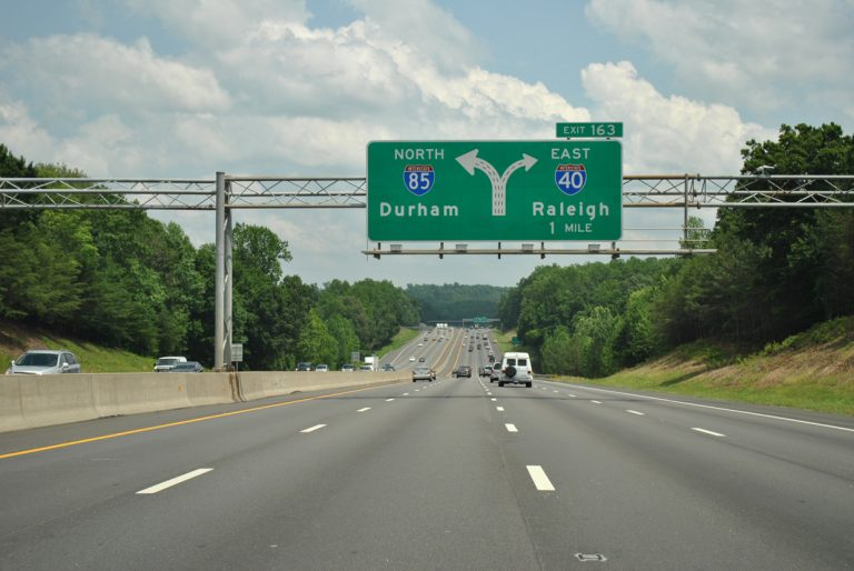 I-40/85 east split - Hillsborough, NC