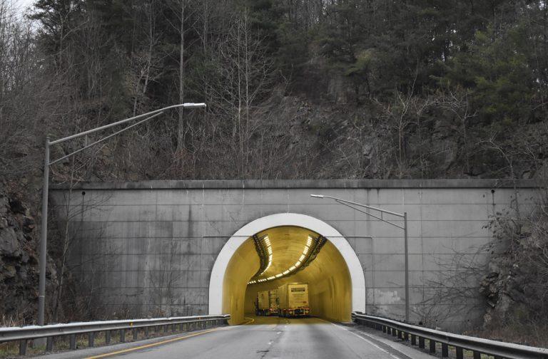 I-40 east at Dry Gap Ridge Tunnel
