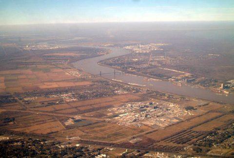 i-310 - Hale Boggs Bridge aerial - 2002
