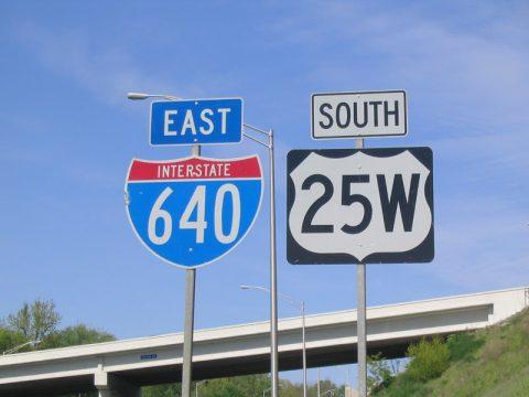 I-640 & U.S. 25W shields