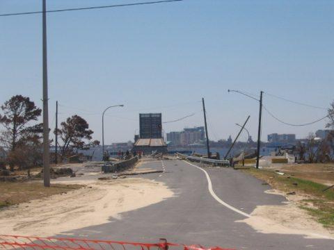 Biloxi-Ocean Springs Bridge after Hurricane Katrina