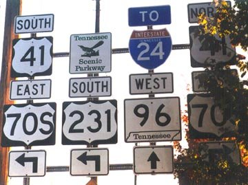 US 231 south at US 41/70S - 2001