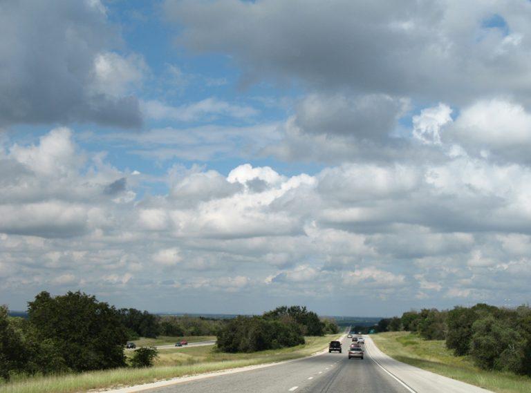 IH 37 north at Sandy Oaks, Texas
